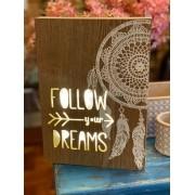 Tela em madeira com luz Led - Filtro dos Sonhos
