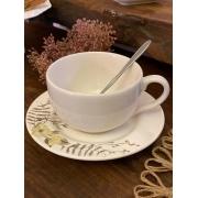 Xícara de Chá com Pires - Papoula