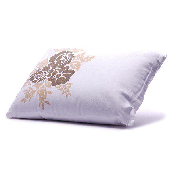 Almofada Branca Floral