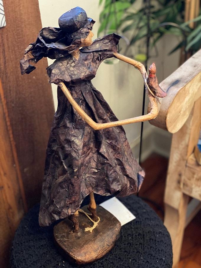 Boneca Artesanal de reuso de material - Alice