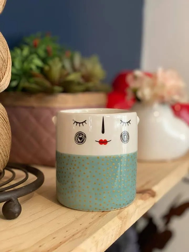 Cachepot Cerâmica de Parede - Puppet