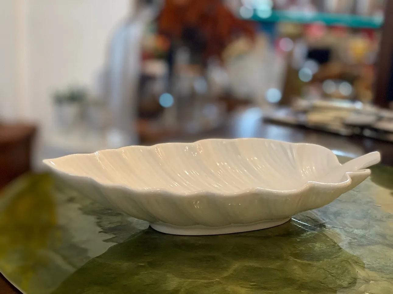 Centro de Mesa Cerâmica Folha