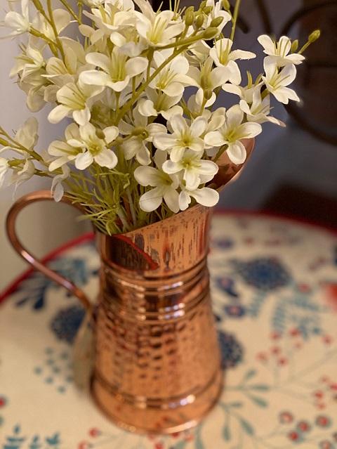 Floreira de Cobre Martelada