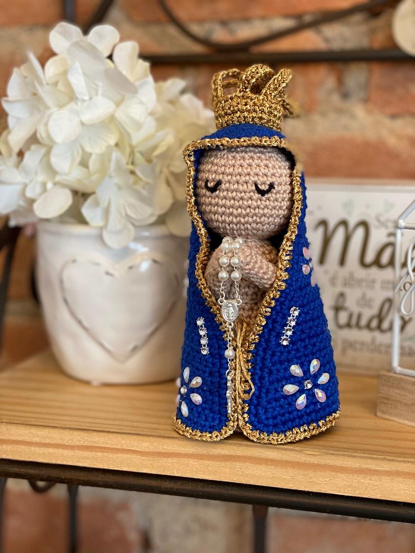 Nossa Senhora Amigurumi (crochê)