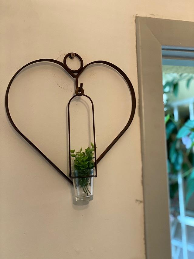 Pendente Floreira de Ferro - Coração