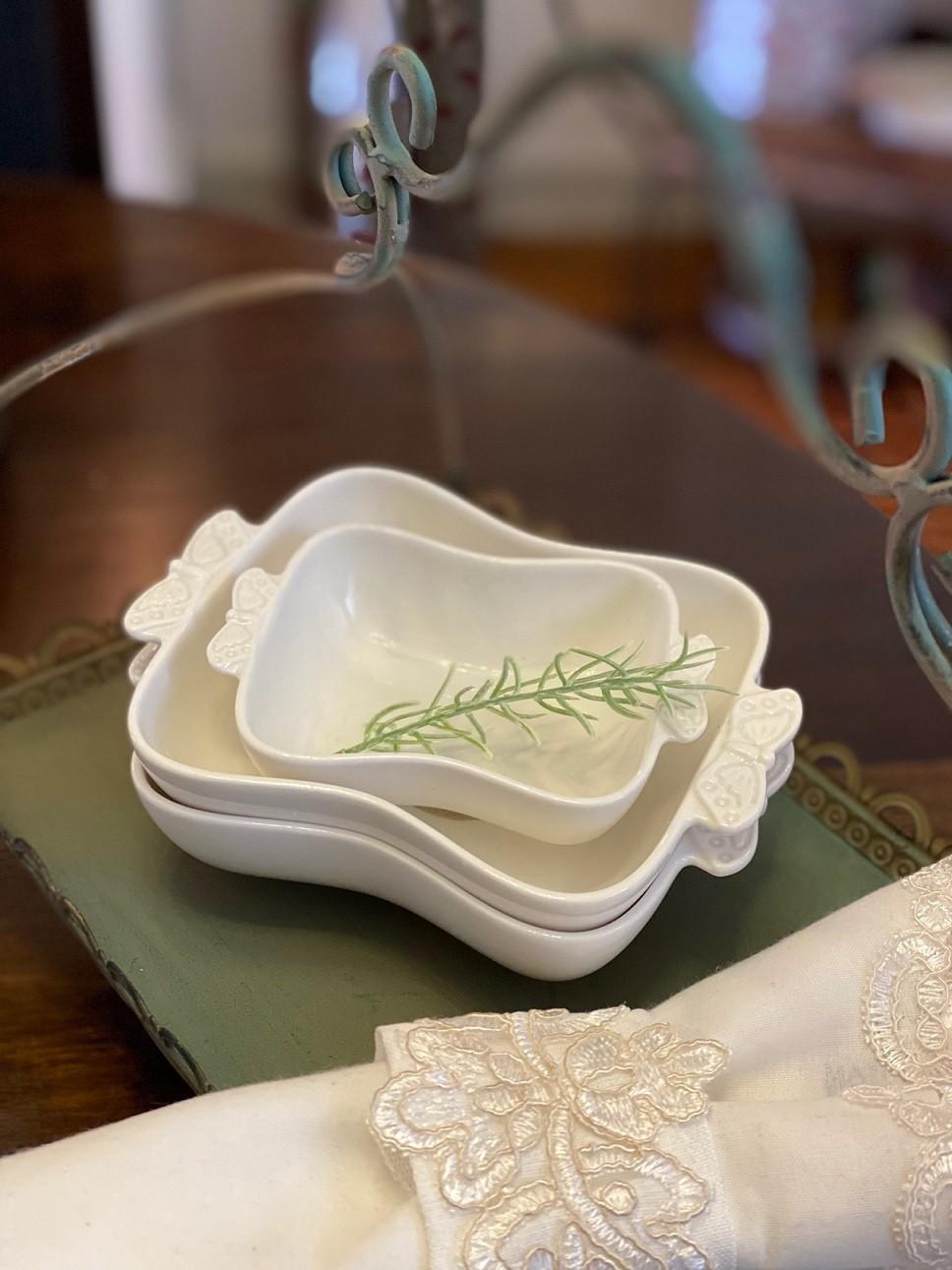 Petisqueira de Porcelana - Borboleta