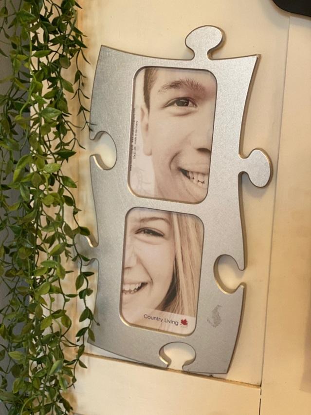 Porta Retrato de parede Duplo Puzzle