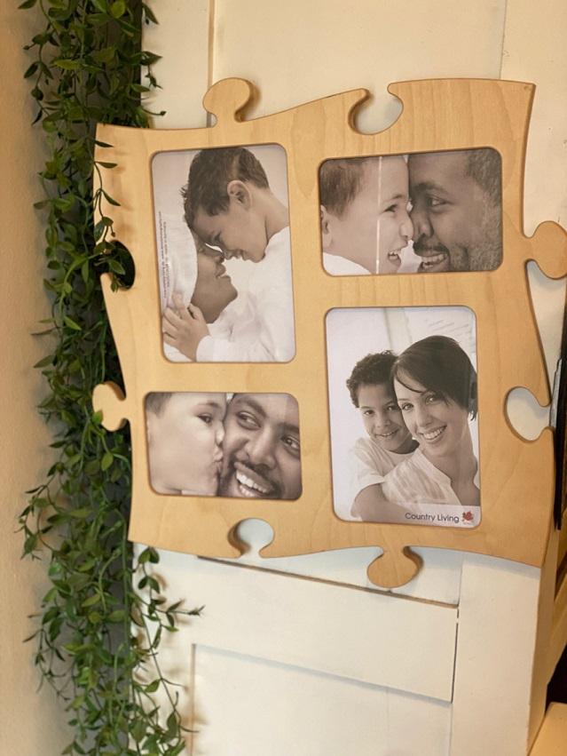 Porta Retrato de parede Puzzle G