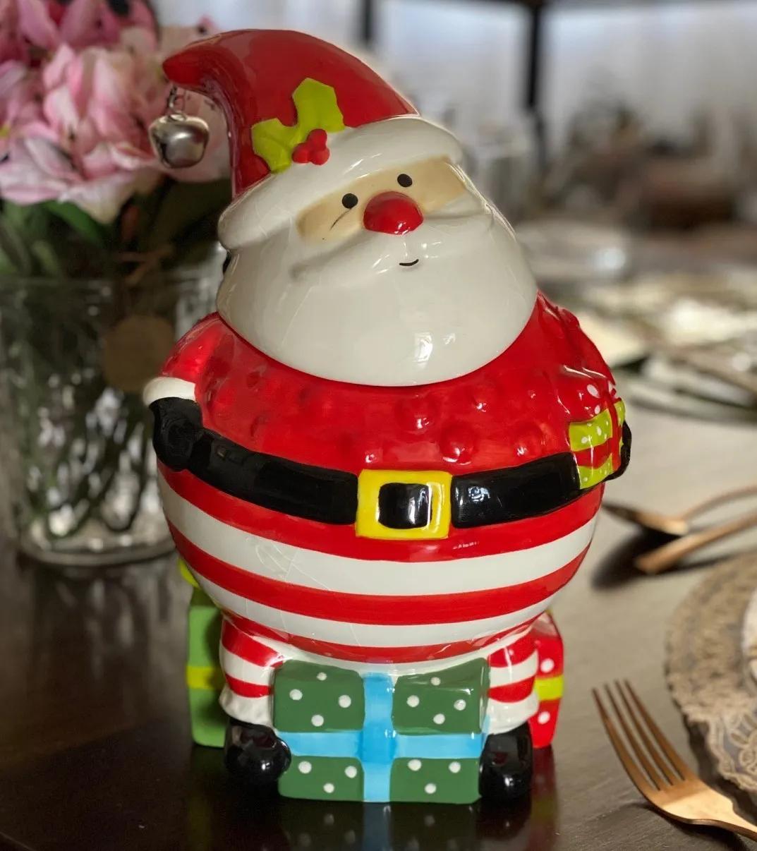 Pote de Biscoito Noel