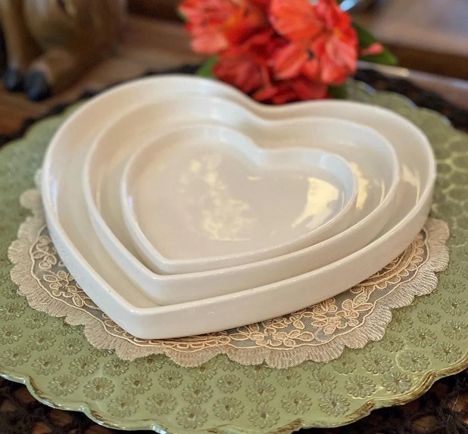 Prato de Porcelana - Coração