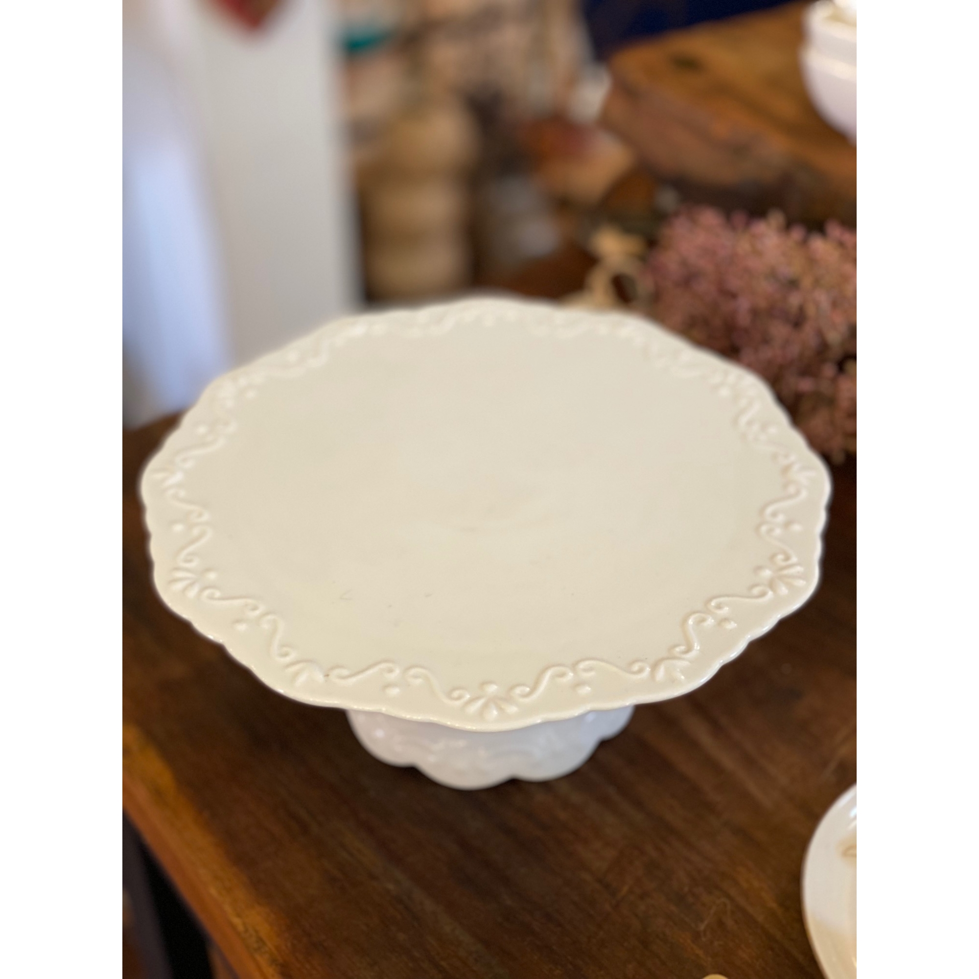 Prato para Bolo em porcelana