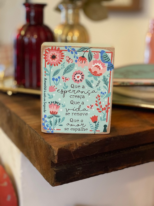 Quadrinho Box de Madeira - Esperança