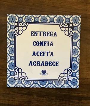 Quadro Azulejo Entrega, aceita