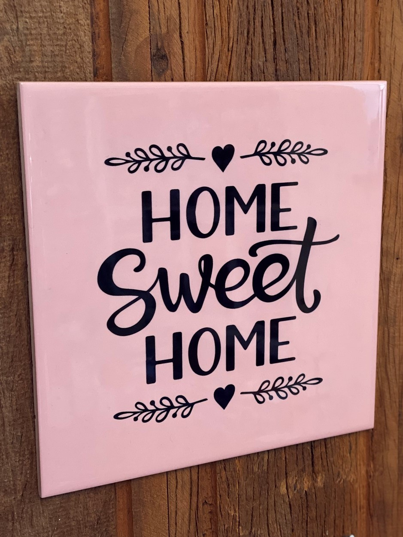 Quadro Azulejo Home Sweet Home