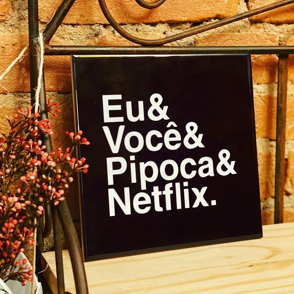Quadro Azulejo Netflix