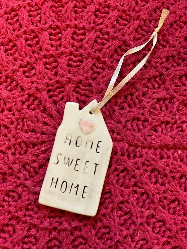 Tag de Porcelana Home Sweet Home