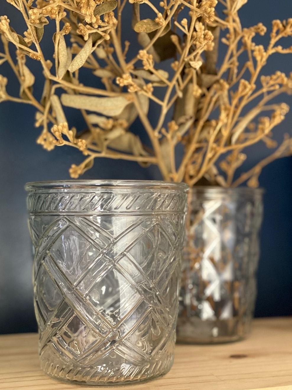 Vaso de Vidro Transparente