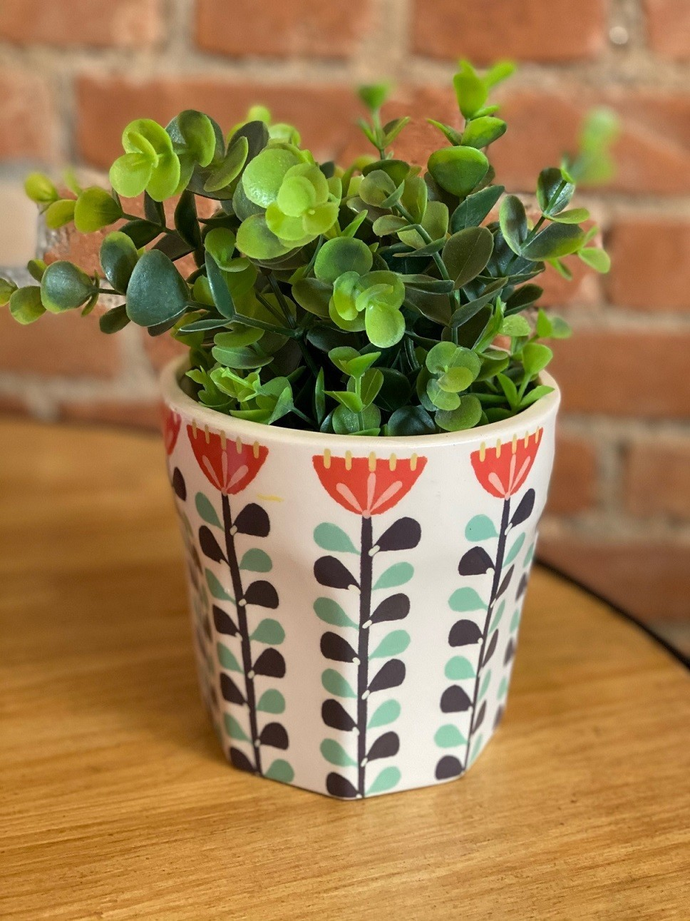 Vaso Cerâmica Flor Escandinava