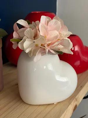Vaso de Cerâmica Coração - Branco