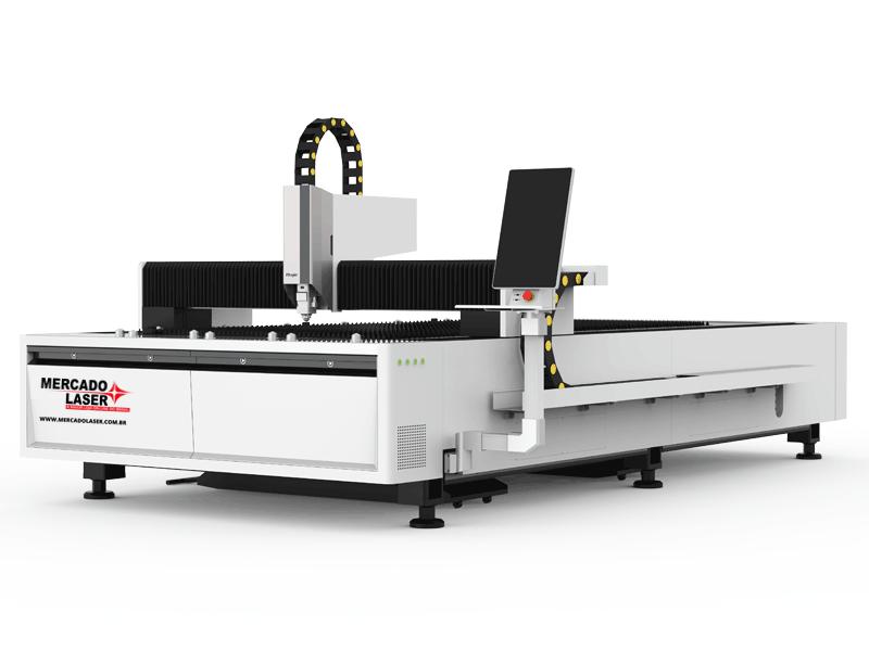 Máquina Fiber Laser Corte Metal de até 8mm  3×1,5 Metros Raycus 1.000W