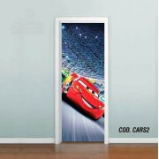 Adesivo De Porta Disney Carros Mcqueen #02