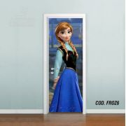 Adesivo De Porta Disney Frozen Ana Elsa #06