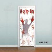 Adesivo De Porta The Walking Dead Zumbi #01