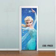 Adesivo De Porta Disney Frozen Ana Elsa #05