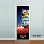 Adesivo De Porta Disney Carros Mcqueen #04