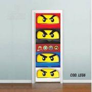 Adesivo De Porta Lego - Ninjago