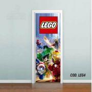 Adesivo De Porta Lego - Marvel Vingadores