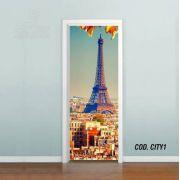 Adesivo De Porta Cidade Paris #01