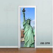 Adesivo De Porta Cidade Nova York Ny #04