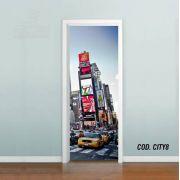 Adesivo De Porta Cidade Nova York Ny #03