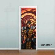 Adesivo De Porta Mortal Kombat mod02