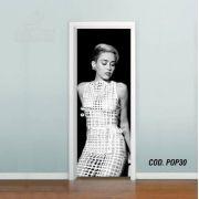 Adesivo De Porta Miley Cyrus mod02