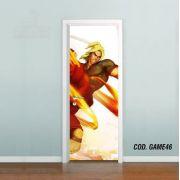 Adesivo De Porta Street Fighter - Ken