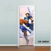 Adesivo De Porta Street Fighter - Chun Li
