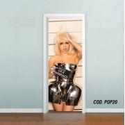 Adesivo De Porta Lady Gaga #02