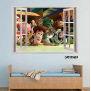 Adesivo Parede Janela 3D Toy Story #04