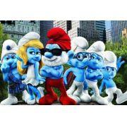 Painel Decorativo Festa Os Smurfs #01
