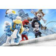 Painel Decorativo Festa Os Smurfs #02