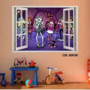 Adesivo Parede Janela 3D Monster High Boo York #02