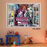 Adesivo Parede Janela 3D Monster High Boo York #03