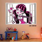 Adesivo Parede Janela 3D Monster High Boo York #04
