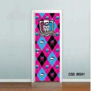 Adesivo De Porta Monster High mod01
