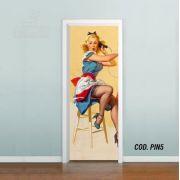 Adesivo De Porta Pinup Vintage Old School mod05