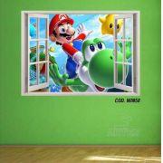Adesivo Parede Janela 3D Super Mario Bross #03