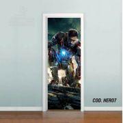Adesivo De Porta Homem De Ferro Stark mod02