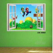 Adesivo Parede Janela 3D Super Mario Bross #04